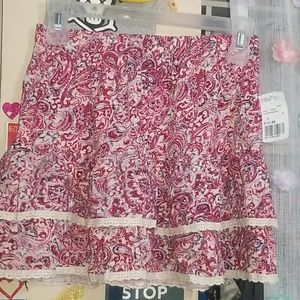 Forever 21 pink white floral skirt size S NWT